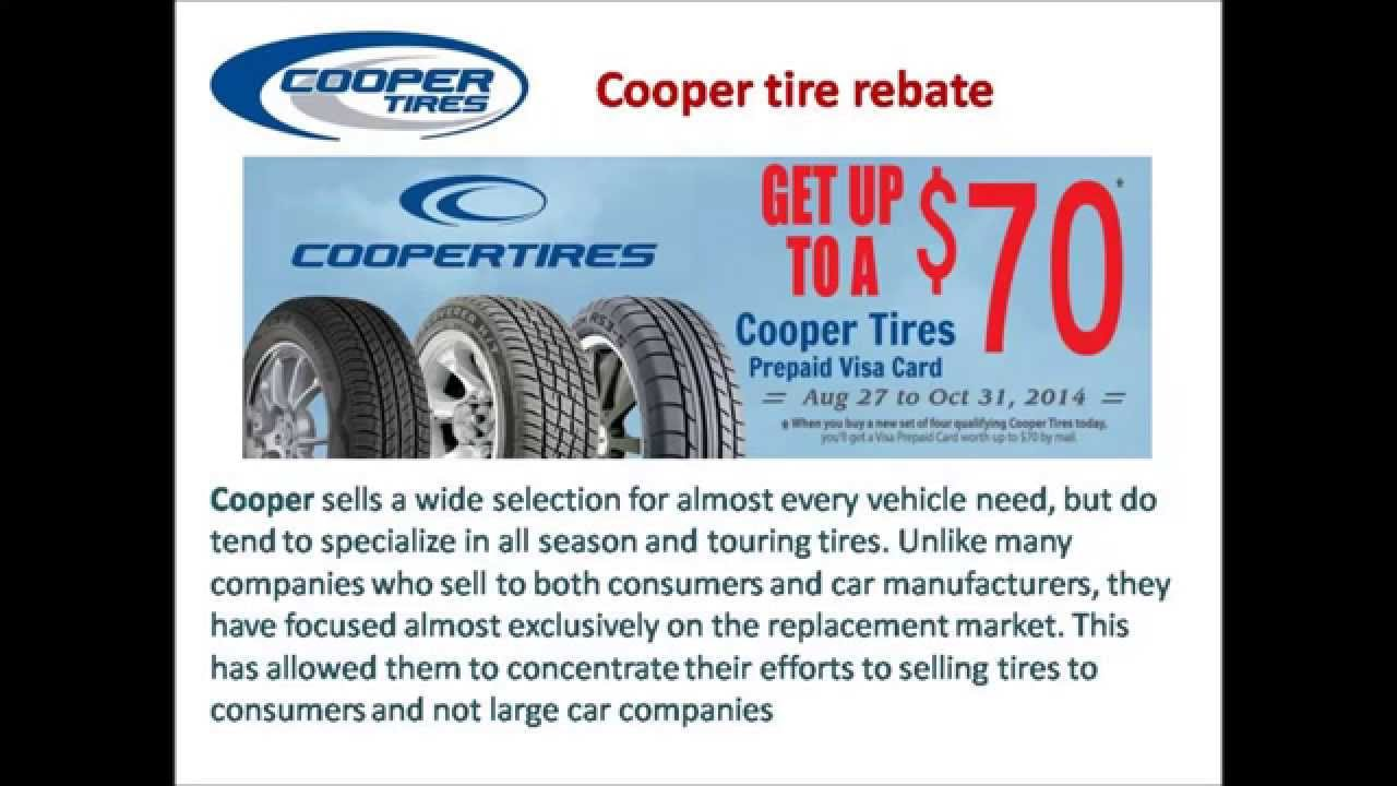 Cooper Tire Rebate Video Youtube