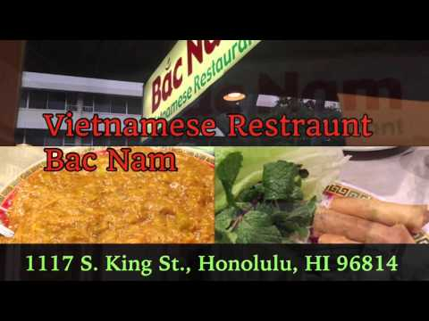 'Hawaii Oahu Travel Guide' Vietnamese Food restaurant Bac Nam   Waikiki Area