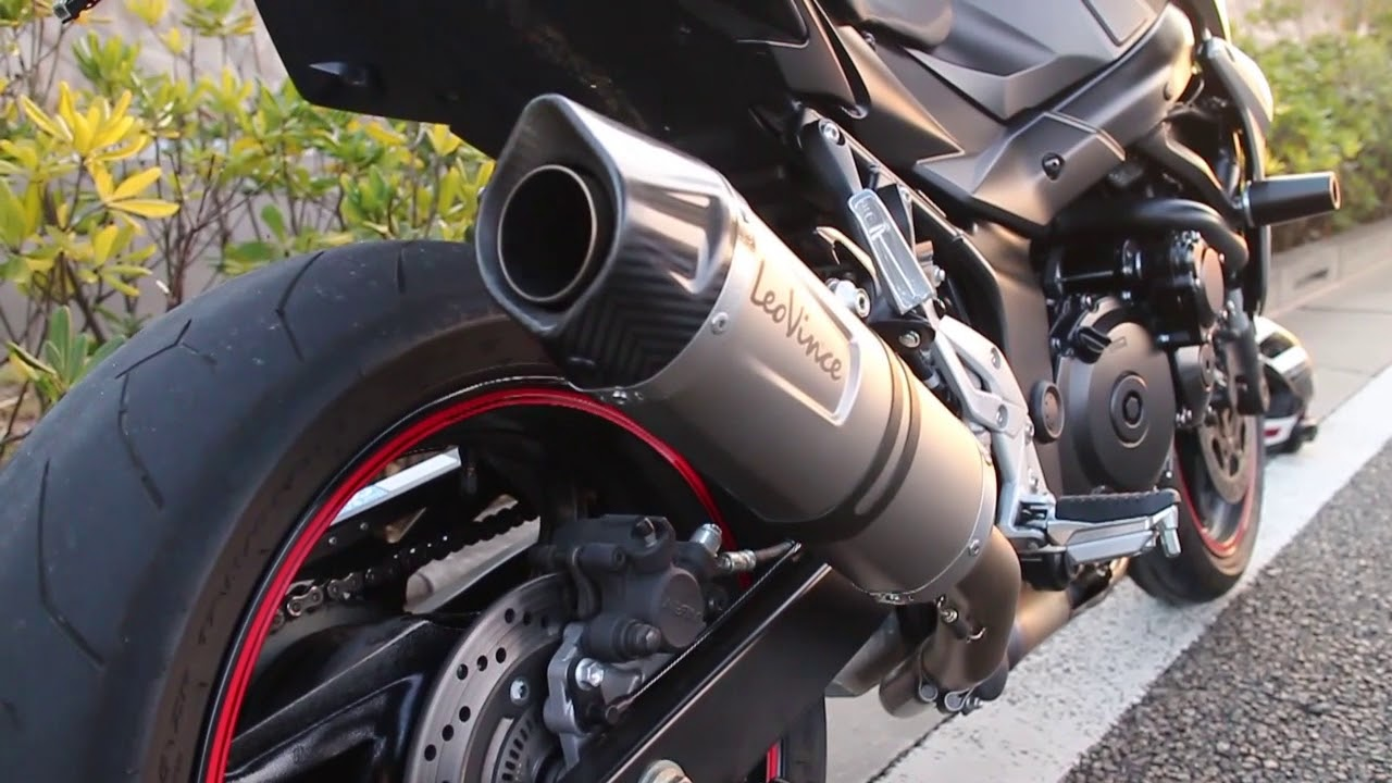 GSR750 LeoVince LV ONE EVO Exhaust - YouTube