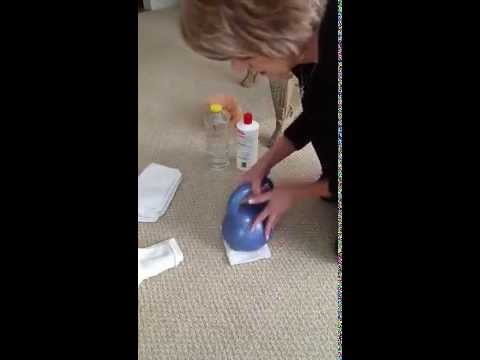 Cleaning dog urine from carpet