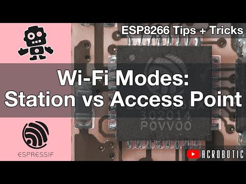 ESP8266 Wi-Fi Modes: Station vs. Access Point Using Arduino IDE
