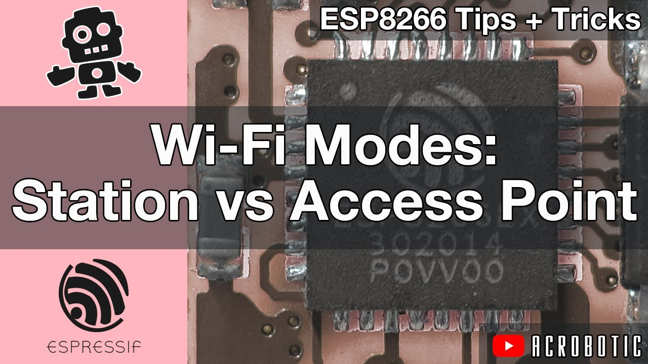 ESP8266 Wi-Fi Modes: Station vs  Access Point Using Arduino IDE (Mac OSX  and Windows)