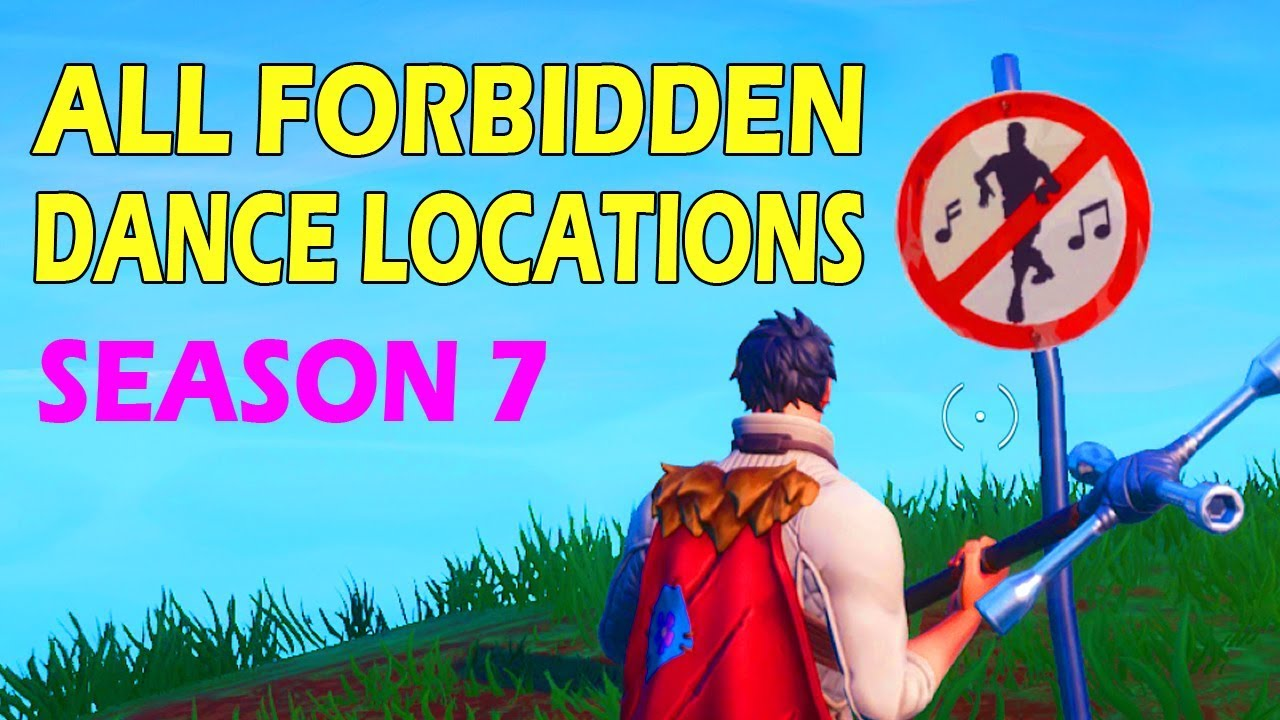 Dance In Different Forbidden Locations All 7 Locations Fortnite