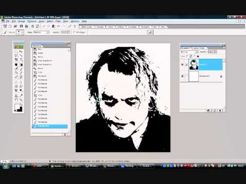 Tutorial on turning an image into a stencil using photoshop