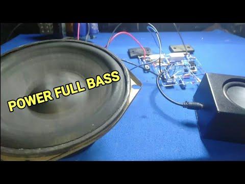 Amplifier Power Full Bass