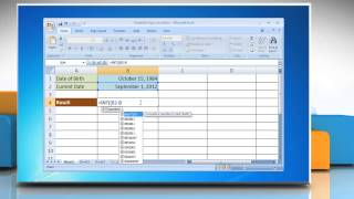 microsoft excel 2007 simplified age calculation in excel