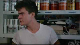 The Boys Next Door - Gas Station Scene - Charlie Sheen & Maxwell Caulfield 1985