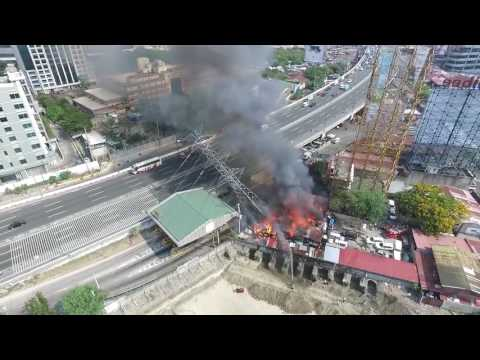 Drone Captures Moment of Pylon Collapse in the Philippines