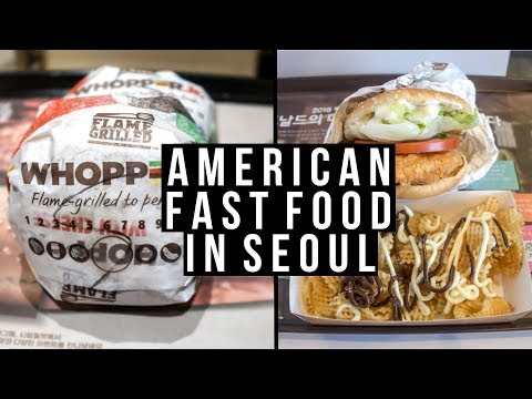 American Fast Food Review In Seoul - Vlog #024