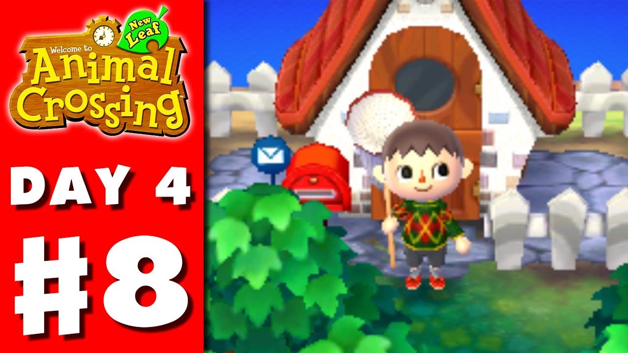 Animal Crossing New Leaf Part 8 My New House Nintendo 3ds Gameplay Walkthrough Day 4 Youtube