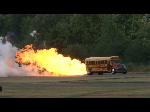 2014 Greenwood Lake Airshow - Jet-Powered School Bus