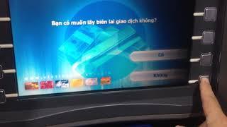 Rút tiền ở trụ ATM vietinbank mới tinh