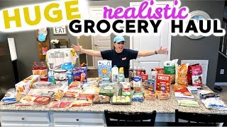 HUGE FAMILY OF 4 GROCERY HAUL | Cook Clean And Repeat