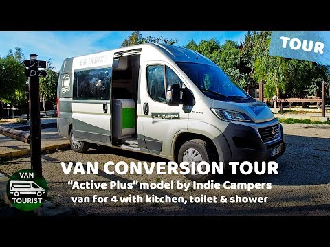 Van Tour Of Fiat Ducato Van Conversion By Indie Campers. Active Plus Campervan Vantour Review