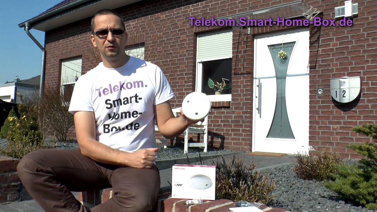 telekom smart home rauchmelder mit led notlicht youtube. Black Bedroom Furniture Sets. Home Design Ideas