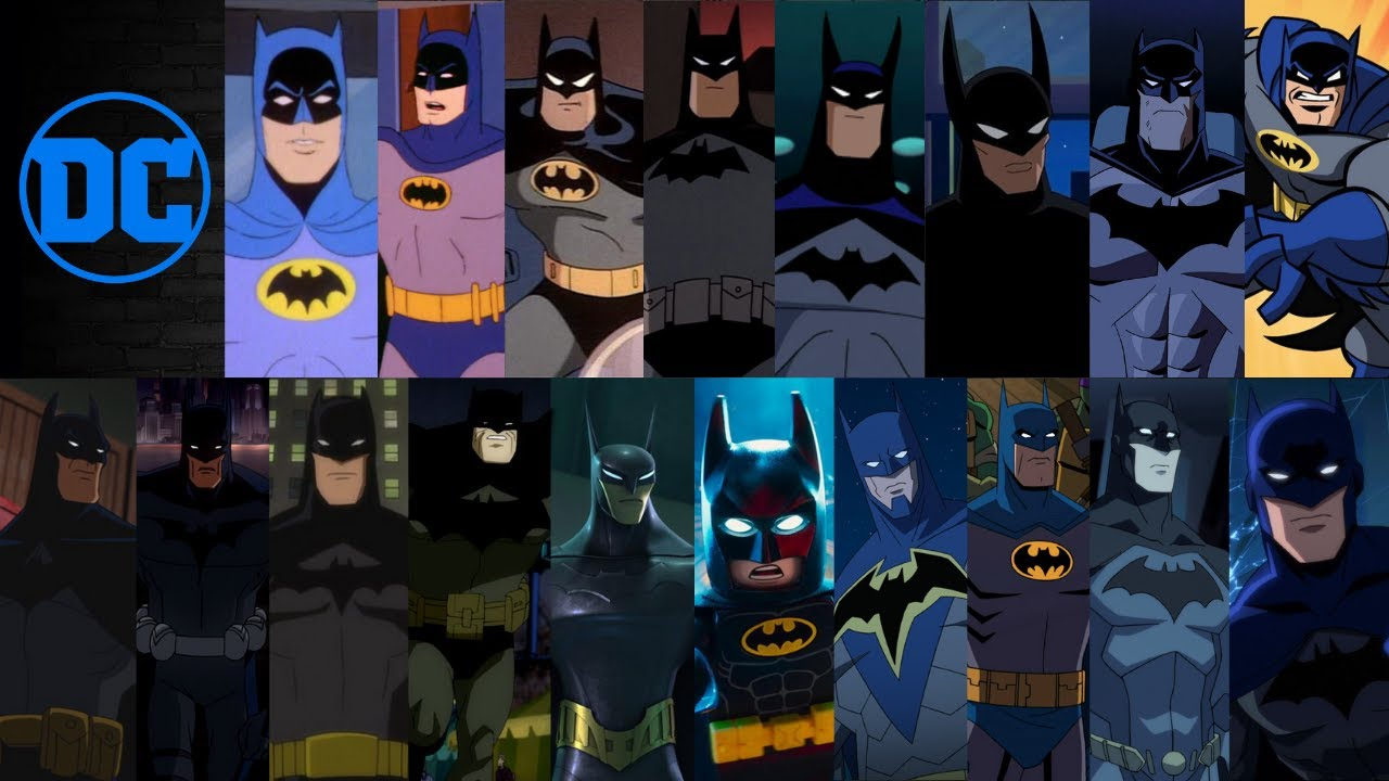 Batman Evolution Animated Tv Shows And Movies 2019 80th Anniversary Youtube