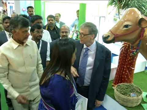 "BILL GATES VISIT VIZAG "" AP AGRI TECH SUMMIT 2017 "" 17-11-2017"