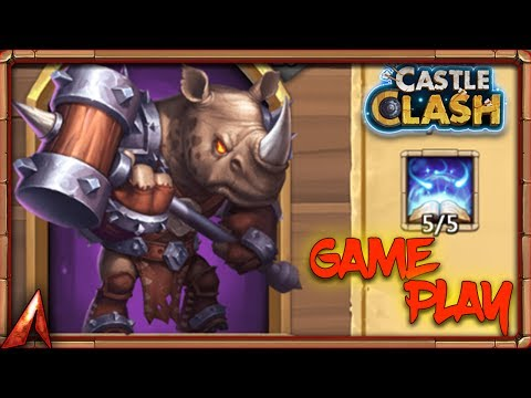 New Hero Rhino Gameplay! He Any Good!? Castle Clash
