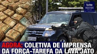 DELEGADOS DA FORÇA-TAREFA DA OPERAÇÃO LAVA JATO FAZEM PRONUNCIAMENTO - NOVA OPERAÇÃO