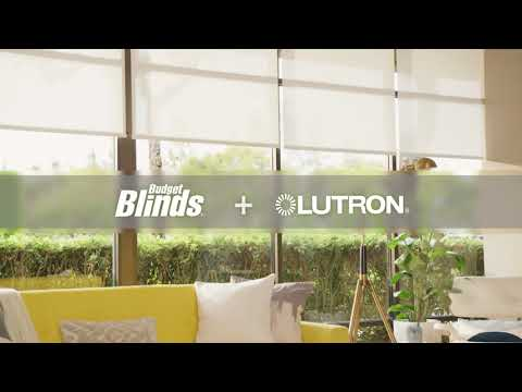 Lutron + Budget Blinds Smart Shades