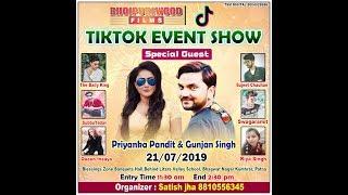 Tiktok Event Show In Patna With Actress Priyanka Pandit