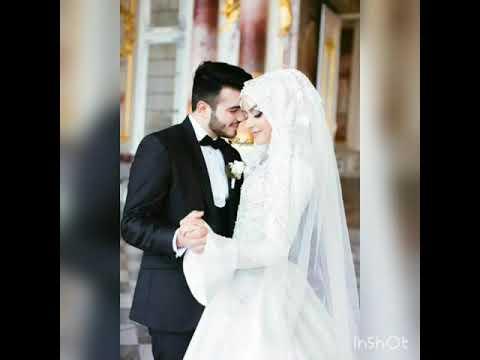 # Мусульманские свадебные платья      Невеста в хиджабе с женихом 💕
