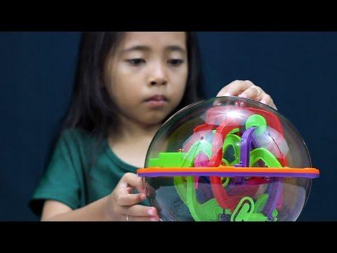 unboxing mainan anak maze intellect ball - 3D maze game -maze ball- cndirect haul indonesia