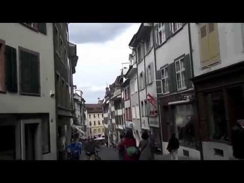 Switzerland Basel Old City . Basler Altstadt walking Tour Schweiz 2014