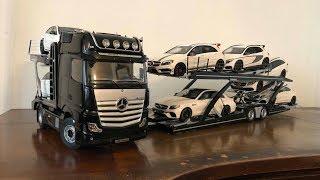 Modelcars - Unboxing Mercedes Actros Autotransporter NZG Modelle 1/18