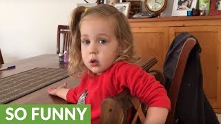 2-year-old finds out her baby brother has been born