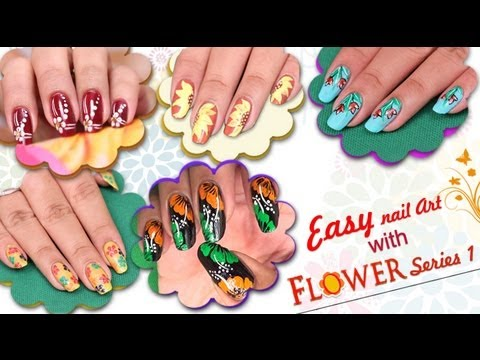 Easy nail art design with flower series 1 do it yourself easy nail art design with flower series 1 do it yourself khoobsurati solutioingenieria Image collections