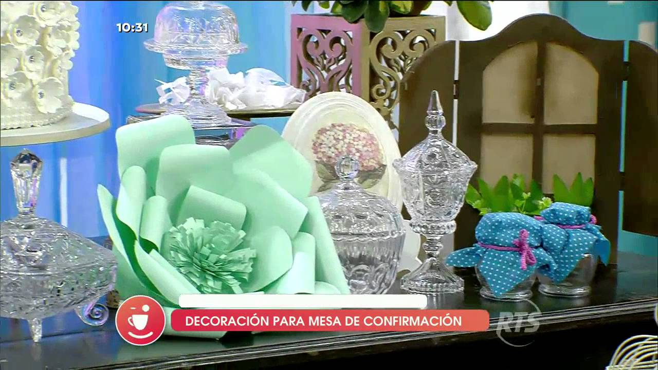 Decoraciones para comuni n y confirmaci n youtube - Decoraciones para la pared ...