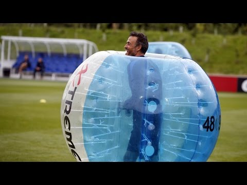 FC Barcelona bubble football: Players vs Staff