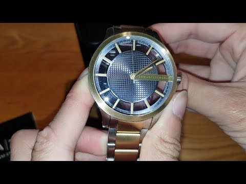 Armani Exchange AX2403 Gold And Silver Watch Unboxing