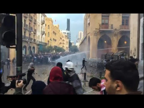 Clashes erupt outside Lebanon's Parliament in central Beirut | AFP
