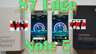Samsung Galaxy S7 Edge Vs. Galaxy Note 5 |Comparacion de Velocidad|