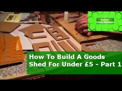 How To Scratch Build A Goods Shed for under £5 {$5} – Part 1