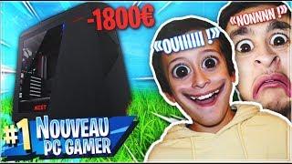 TOP 1 AVEC NOTRE NOUVEAU PC GAMER À 1800€ SUR FORTNITE BATLLE ROYALE !