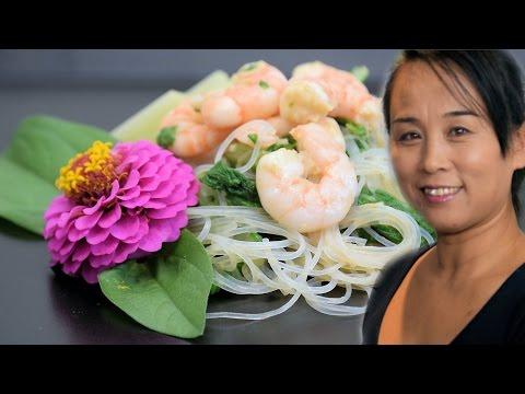 Chinese Chard & Shrimp Salad