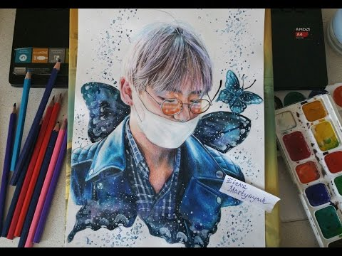 BTS Kim TaeHyung drawing (by Elena Martynyuk)