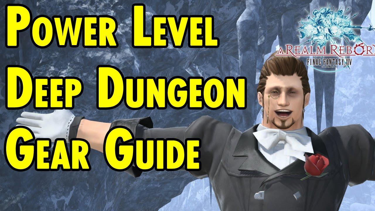 Powerlevel Deep Dungeon Gear Guide Final Fantasy 14 Xbeau Gaming Youtube