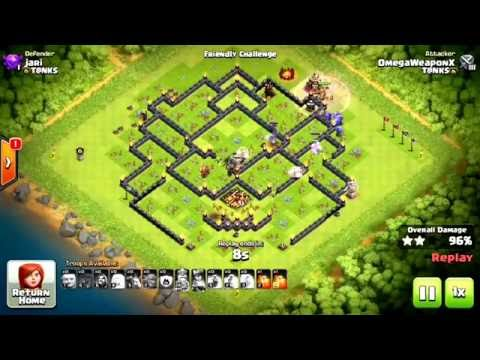 Clash of clans th10 3 star bowlers!!! New strategy!!