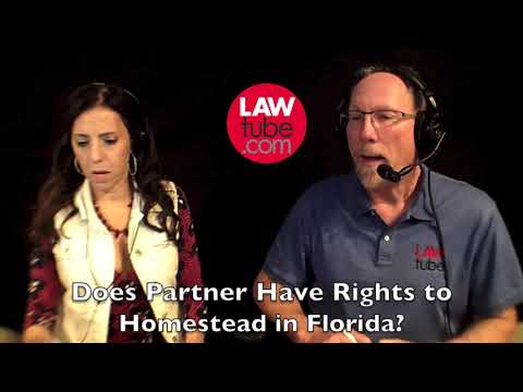Does Partner have rights to homestead in Florida?