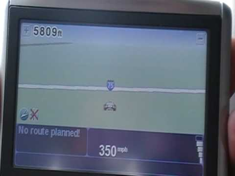 TomTom with Height addon while on a Plane