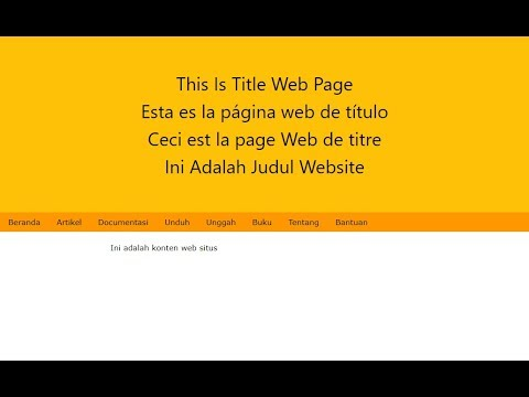 Web Page Translator With JQuery (Multi Language)