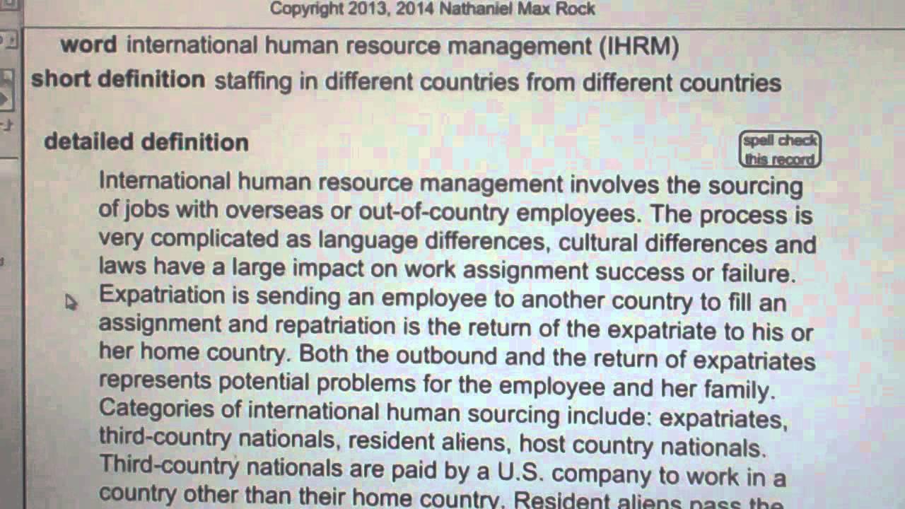 International human resource management ihrm phr sphr human international human resource management ihrm phr sphr human resources license exam vocabubee xflitez Image collections