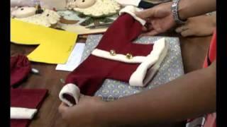 Mulher.com 13/12/2011 - Enfeites de Papai Noel