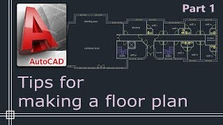Autocad 2019 Tutorial For Beginners Tips Do Draw A Floor Plan Part 1 Youtube