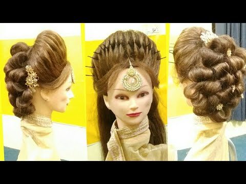 juda hairstyle for party,juda hairstyle without bun,juda hairstyle easy,juda hairstyle for girls ...