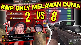 AWP ONLY BOM MISSION 2 VS 8!!! 2 ANAK KMB SETARA 8 ORANG!! Point Blank Zepetto Indonesia